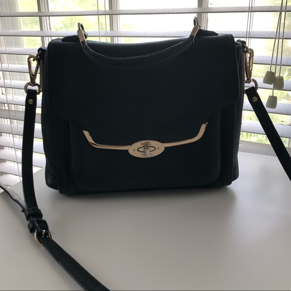 Coach Handbags - Coach Black Leather Top Handle Crossbody